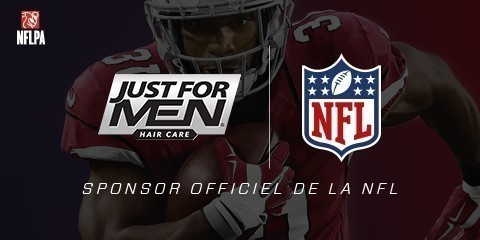 Just For Men, le leader mondial de la coloration pour homme est sponsor officiel de la NFL !