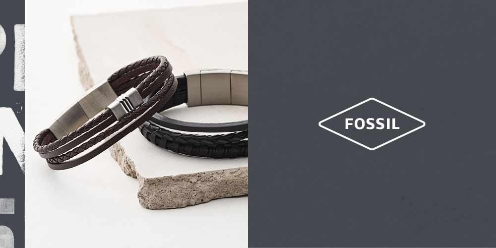Bijoux Fossil Homme