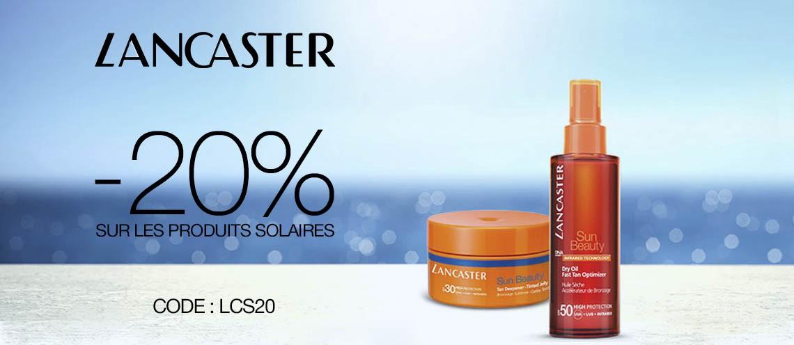 20% offert sur Lancaster Solaires