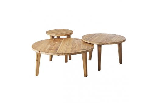 Table basse Gigogne bois massif Ratunel