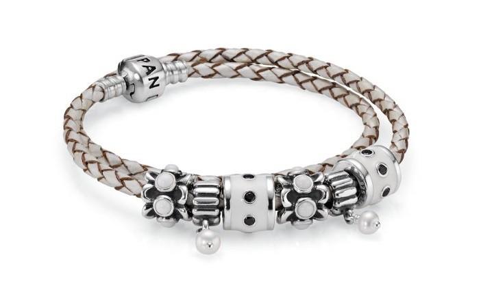 pandora bracelet cuir noir