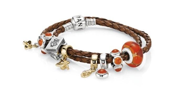 pandora bracelet cuir orange