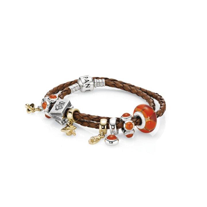 magasin en ligne c864e 2ed94 bracelet cuir pandora simple