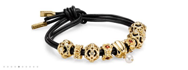 bracelet Pandora cuir noeud simple