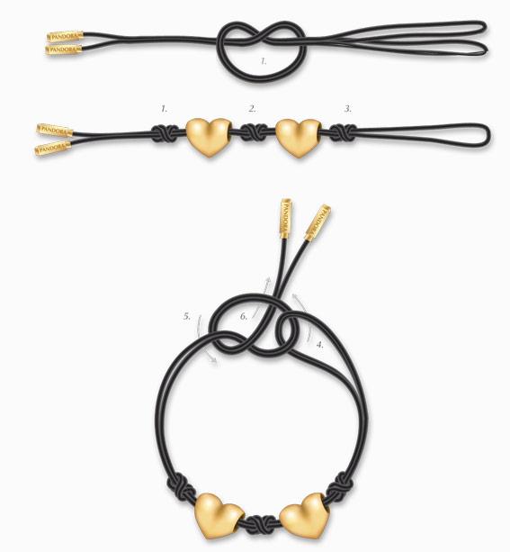 schema bracelet Pandora noeuds diviseurs