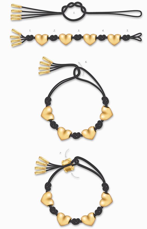 schema 2 bracelet Pandora noeud diviseur