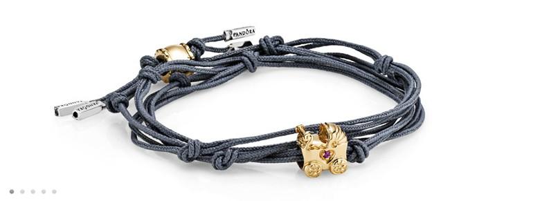 bracelet Pandora noeud diviseur une perle