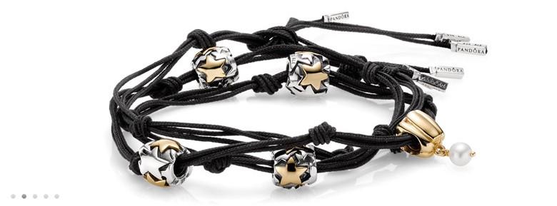 bracelet Pandora noeuds diviseurs trois cordons