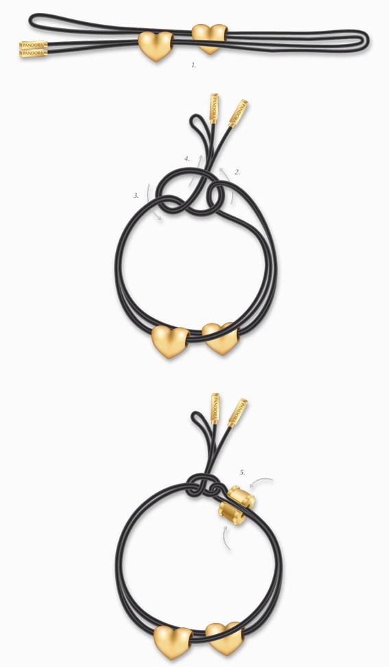 schema 2 bracelet Pandora noeud simple