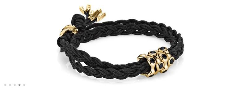 bracelet Pandora 4 cordons noeuds tresses