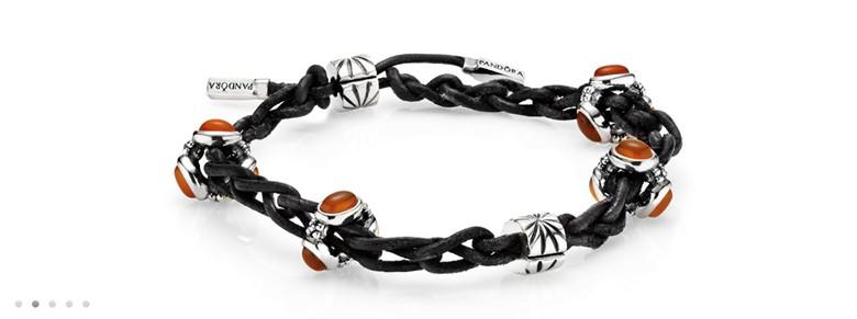 composition bracelet Pandora noeuds tresses avec crochet