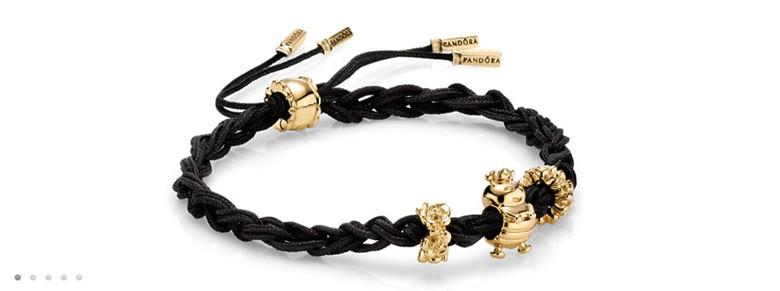 bracelet Pandora charms or noeuds tresses