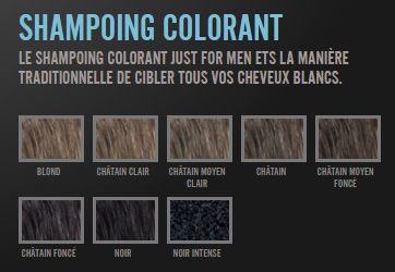 Nuance coloration cheveux Just For Men