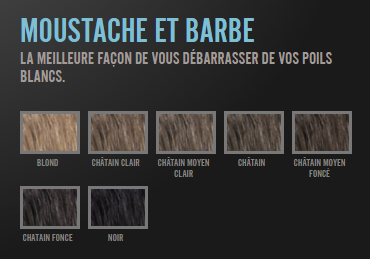 Nuance coloration barbe et moustache Just For Men