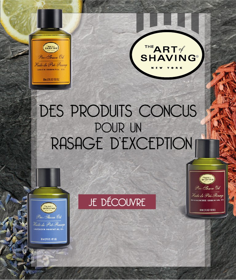 The Art of Shaving Produits de Rasage sur MenCorner