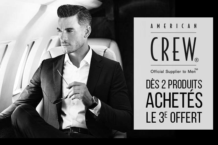 American Crew 3ème Produit Offert Soins Cheveux Homme