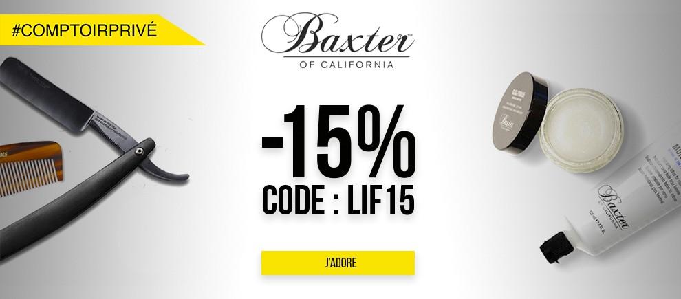 Profitez de l'offre -15% sur Baxter of California !