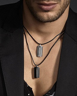 collier homme tendance