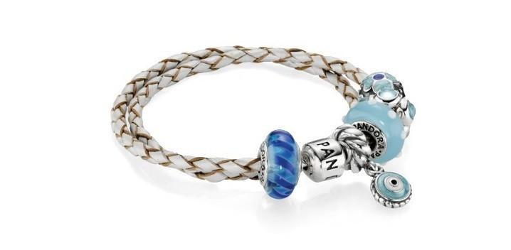 pandora bracelet cuir bleu
