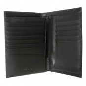 Azzaro Maroquinerie Homme - PORTEFEUILLE 3 VOLETS VERTICAL CUIR NOIR - Petite Maroquinerie (Portefeuille...)
