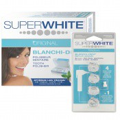 Super White Original Homme - PACK POLISSEUR DENTAIRE & 4 RECHARGES -  - SUPER WHITE