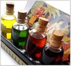 Les coffrets d'huile de massage