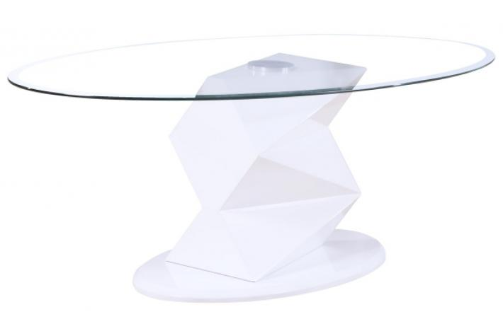 Table Basse Ovale En Verre Design