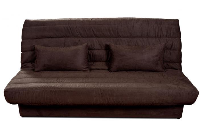 banquette clic clac en microfibre chucky marron design pas cher sur sofactory. Black Bedroom Furniture Sets. Home Design Ideas