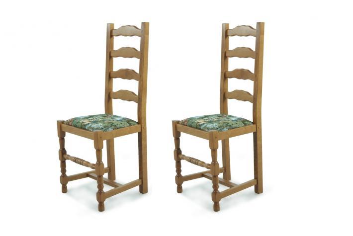 Chaise en bois lot de 2 positano gobelin boutique de for Prix chaise bois
