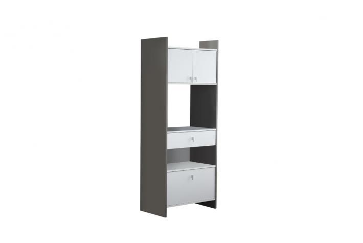 combi micro ondes 1 tiroir 1 casserolier 2 portes coral design pas cher sur sofactory. Black Bedroom Furniture Sets. Home Design Ideas