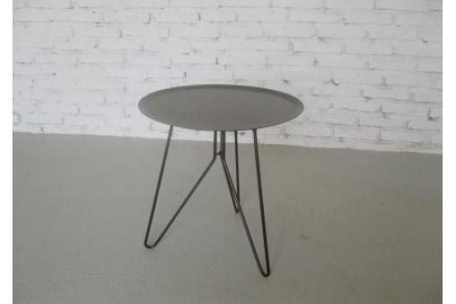 bout de canap rond d 39 int rieur et d 39 ext rieur gris table d 39 appoint pas cher. Black Bedroom Furniture Sets. Home Design Ideas
