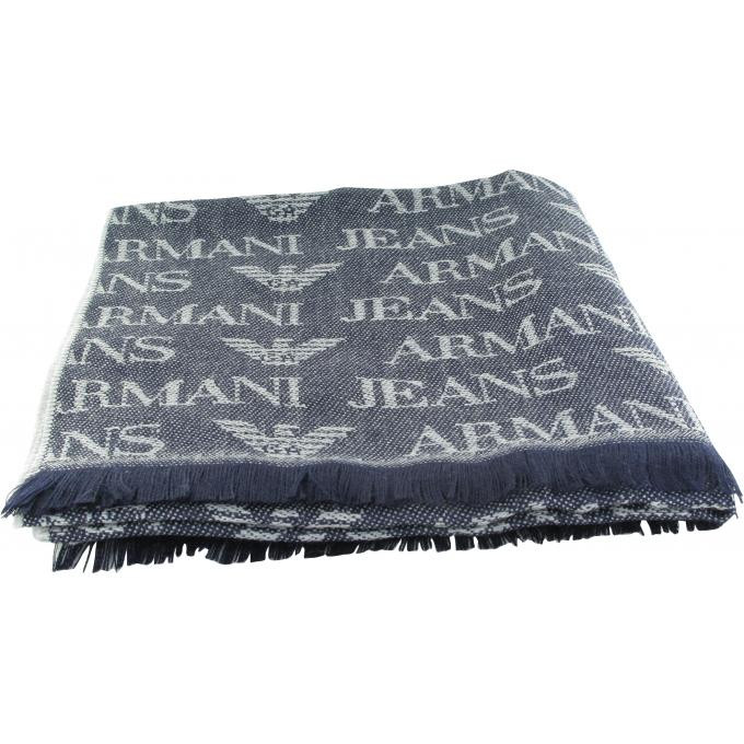 ECHARPE MARINE – Logotée Emporio Armani - Echarpe, gant   bonnet homme bb48f3fe9bc