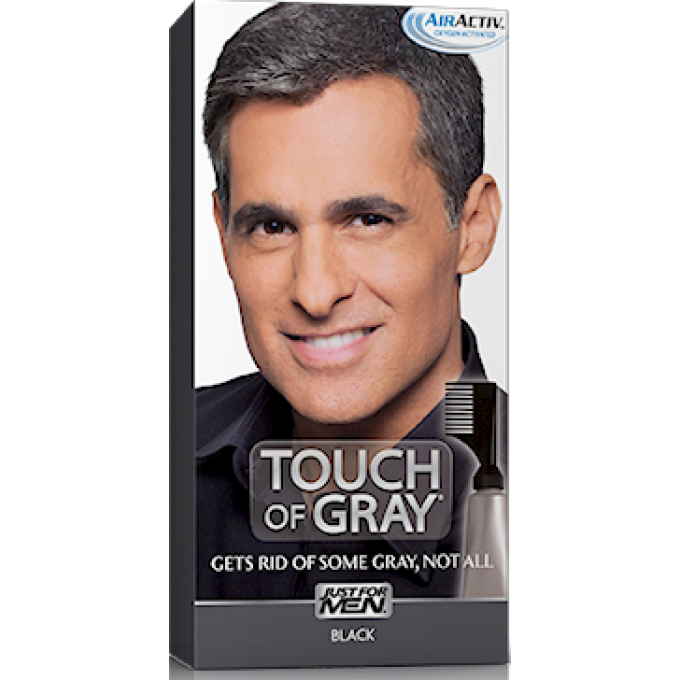 coloration cheveux homme gris noir just for men - Shampoing Colorant Gris