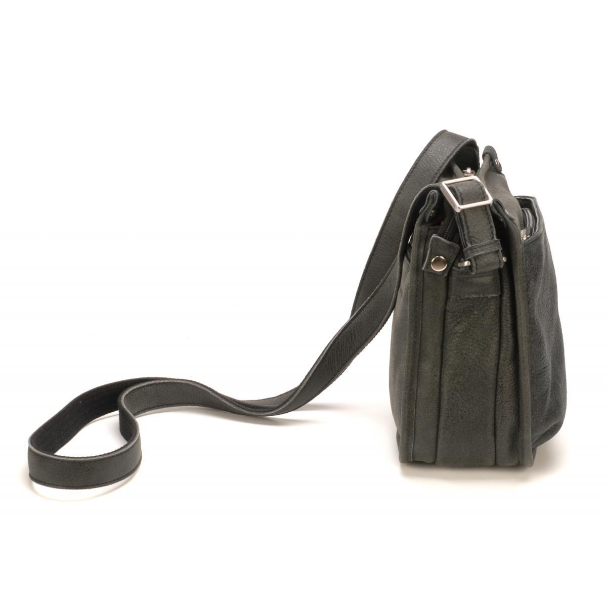 Cuir De Vachette C Est Quoi sac porte travers soufflets g/bleu - arthur & aston - cuir