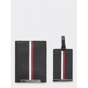 Tommy Hilfiger Maroquinerie - CORP PLAQUE PASSPORT COVER&TAG - Maroquinerie tommy hilfiger homme