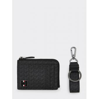 COATED CANVAS ZIP CC HOLDER&KEY