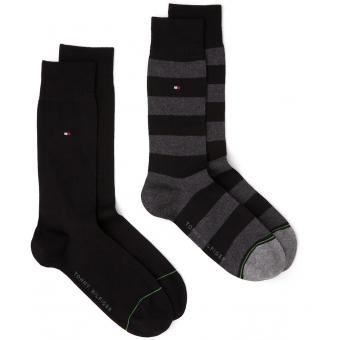 Pack de 2 paires chaussettes rugby Tommy Hilfiger Underwear