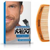Just For Men - PACK COLORATION BARBE & PEIGNE - Chatain Moyen Clair - Entretenir sa barbe