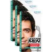 Just For Men - PACK 3 AUTOSTOP Châtain Foncé - Coloration homme chatain fonce