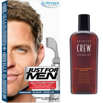 PACK AUTOSTOP & SHAMPOING Châtain Clair Just For Men
