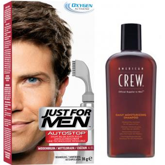 PACK AUTOSTOP & SHAMPOING Châtain Just For Men