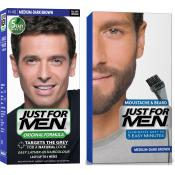 Just For Men - PACK COLORATION BARBE & CHEVEUX - Coloration homme chatain fonce