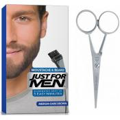 Just For Men - PACK COLORATION BARBE & CISEAUX - Coloration homme chatain fonce
