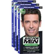 Just For Men - PACK 3 COLORATIONS CHEVEUX - Coloration homme chatain fonce