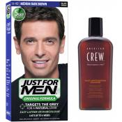 Just For Men - PACK COLORATION CHEVEUX & SHAMPOING - Coloration homme chatain fonce
