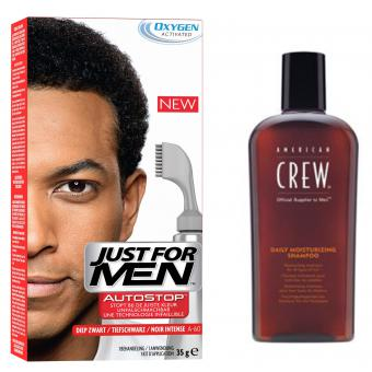 PACK AUTOSTOP & SHAMPOING Noir Intense Just For Men
