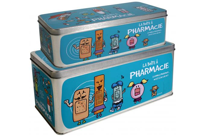 Lot de 2 boites a pharmacie bleues bo te de rangement pas cher - Boite a pharmacie design ...