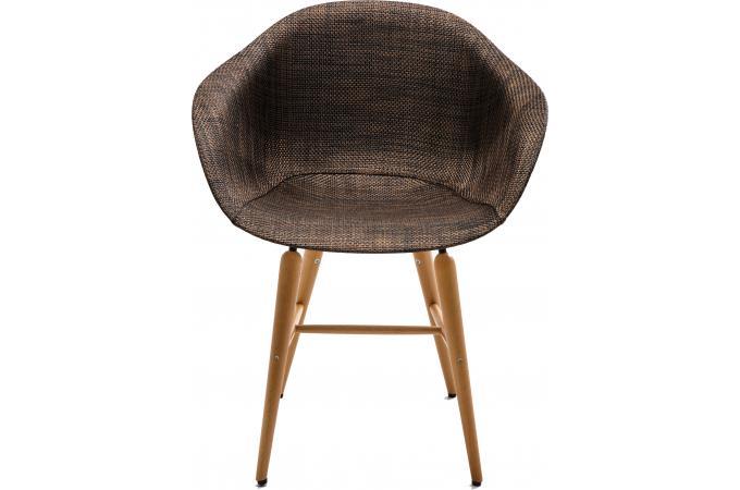 Chaise forum marron pieds bois kare design chaise design pas cher - Chaise design pied bois ...