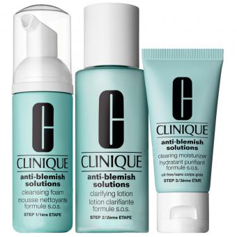 ANTI-BLEMISH SOLUTIONS KIT D'INITIATION BASIC 3 TEMPS Clinique
