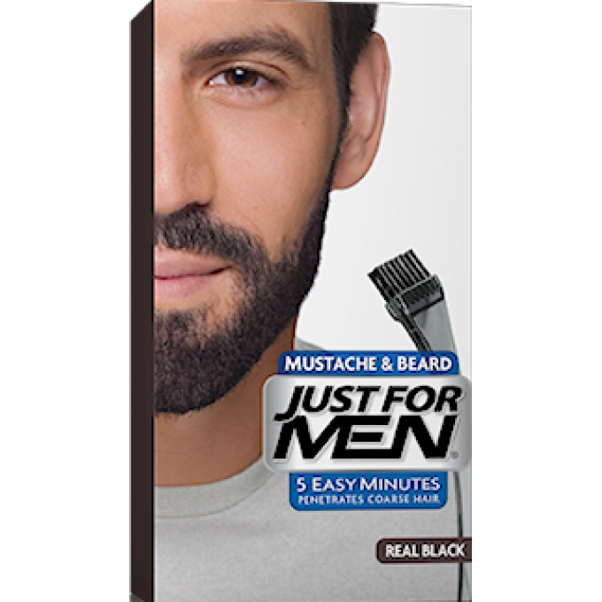 coloration barbe noir naturel just for men - Shampoing Colorant Homme